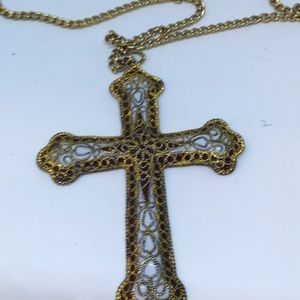 Jewelry - Cross Goldtone Necklace